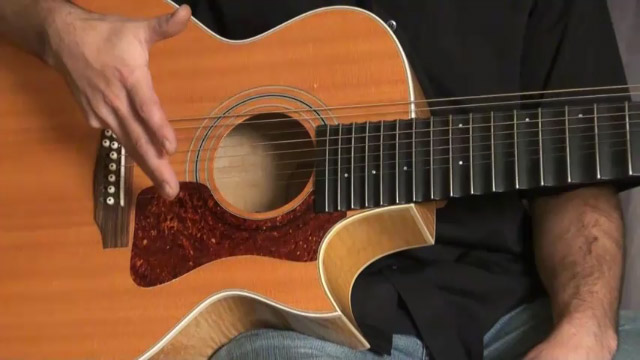 Modification d'une Guild JF-30 par le luthier Michel Pellerin